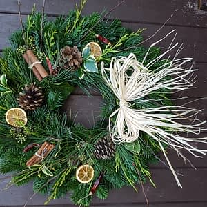 Mixed Foliage – Eco Wreath